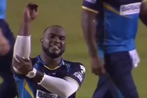 VIDEO : जब विकेट लेते ही गेंदबाज ने दिखाया बाबा जी का ठुल्लू