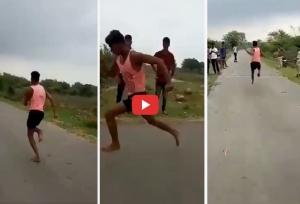 11 सेकेंड में उसेन बोल्ट की तरह दौड़ा यह शख्स, खेल मंत्री ने VIDEO देख दिया मदद का भरोसा