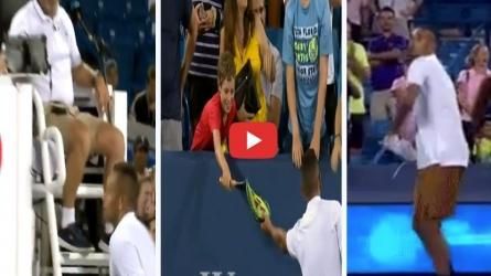 VIDEO : निक किर्गियोस ने खोया आपा, हार के बाद तोड़े रैकेट और दर्शकों पर फेंका जूता