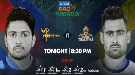 Pro Kabaddi League 2019 : यूपी योद्धा का होगा फिसड्डी टीम तमिल के साथ मुकाबला