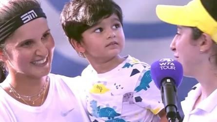 सानिया मिर्जा की जीत पर क्यों वायरल हो रही है बेटे के साथ तस्वीर, सालों बाद मिट सकता है खिताब का सूखा