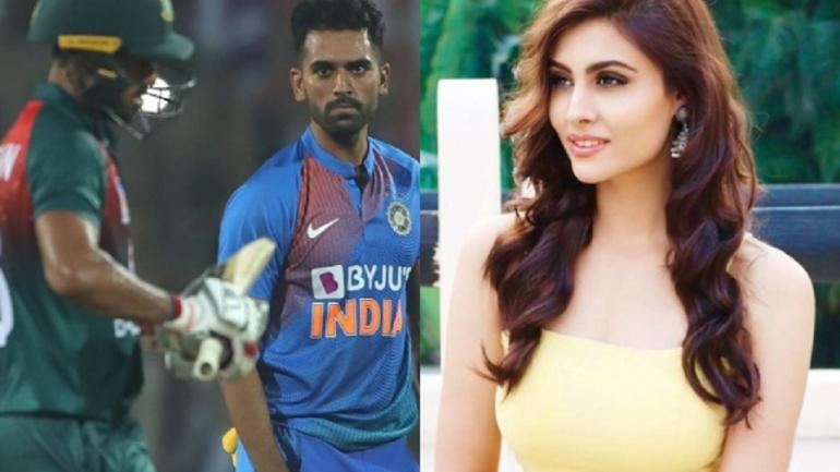 mystery,praising,deepak,chahar,चाहर,तारीफ,काैन,मिस्ट्री गर्ल,IPL दाैरान,सुर्खी